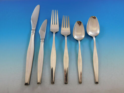 Classique by Gorham Sterling Silver Flatware Service For 8 Set 49 Pieces Modern