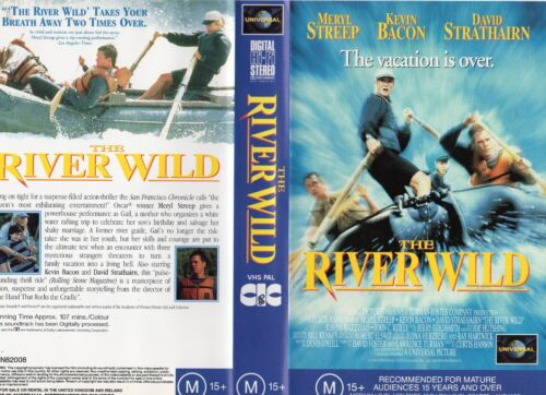 THE RIVER WILD - Meryl Streep - VHS -PAL -NEW -Never played!-Original Oz release