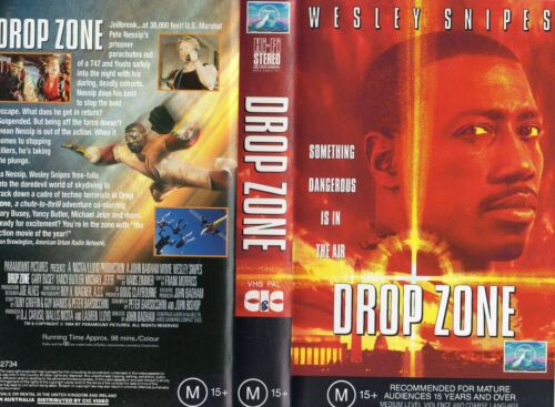 DROP ZONE - Wesley Snipes - VHS - PAL -NEW - Never played! - Original Oz release