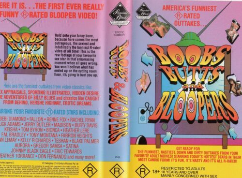 BOOBS BUTTS AND BLOOPERS - VHS - PAL - NEW - Never played! - Original Oz release