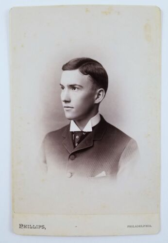 ID'd Cabinet Card Photograph Portrait Of Man Swarthmore College Graduate 1888