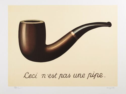 René Magritte - The Treachery of Images (signed & numbered lithograph)