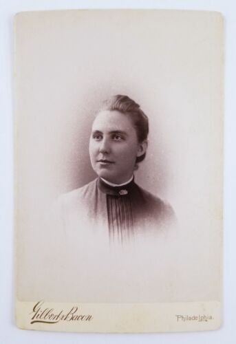 ID'd Cabinet Card Photograph Woman Swarthmore College Graduate Class Of 1889