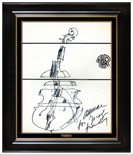 ARMAN Pierre Fernandez Original Abstract Ink Drawing Signed Violin Sculpture Art