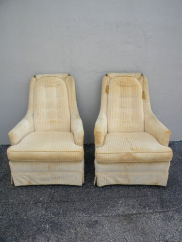 Mid Century Pair of Tufted Side Chairs by Kay 2317