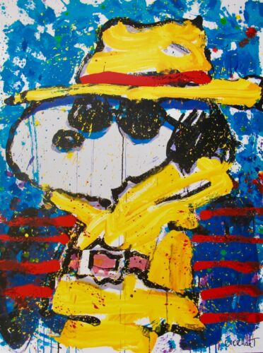 TOM EVERHART UNDERCOVER IN BEVERLY HILLS Hand Signed Ltd Ed Lithograph SNOOPY
