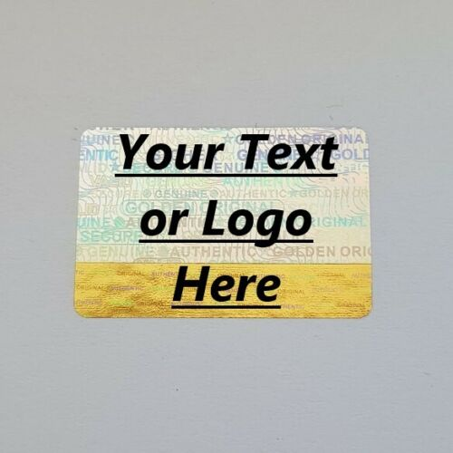 Personalized Custom Hologram Label Sticker Warranty Void If Removed Tamper Proof