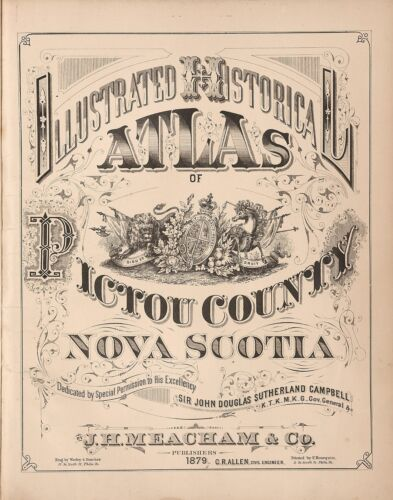 1879 Atlas PICTOU COUNTY NOVA SCOTIA plat maps old GENEALOGY LAND OWNERS DVD