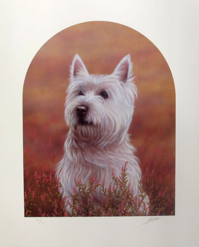 JOHN SILVER WESTIE BREED DOG WEST HIGHLAND TERRIER Hand Signed Giclee Art
