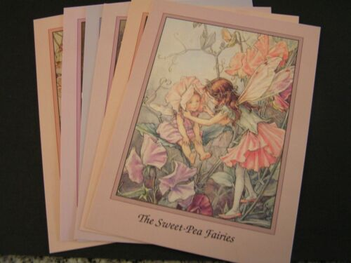 Set Six Pretty Cards Picture Girl Flower Fairy Cicely Mary Barker Rose FREE POST