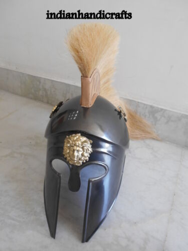 GREEK  ANCIENT CORINTHIAN ARMOUR HELMET-SPARTAN KNIGHT HELMET W/DRIGON GIFT ITEM
