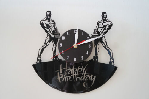 Happy Birthday Design vinyl record wall clock [ black matt sticker ] home art