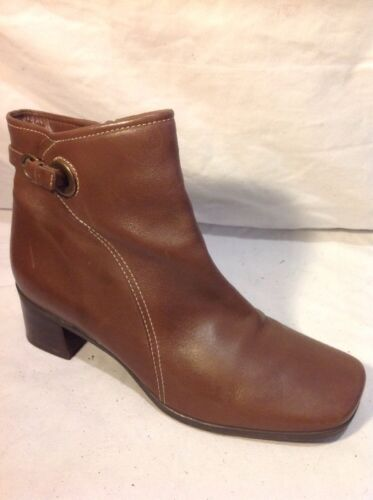 Easy Spirit Comfort Brown Ankle Leather Boots Size 7