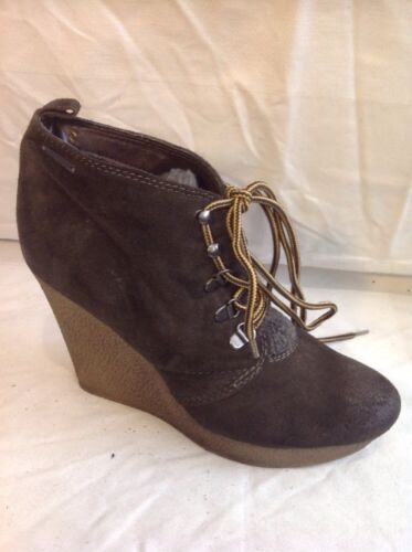 Diesel Brown Ankle Leather Boots Size 38