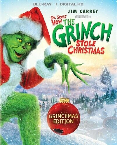How the Grinch Stole Christmas (2000 Jim Carrey) (Dr. Seuss) BLU-RAY NEW