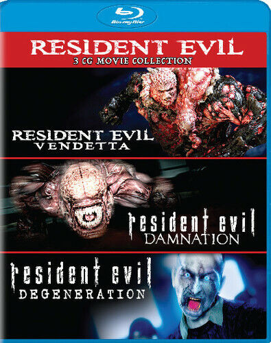 Resident Evil 3 CG Collection: Degeneration / Damnation / Vendetta BLU-RAY NEW
