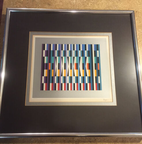 Yaacov Agam Framed HAND SIGNED NUMBERED Serigraph LIMITED FINE ART