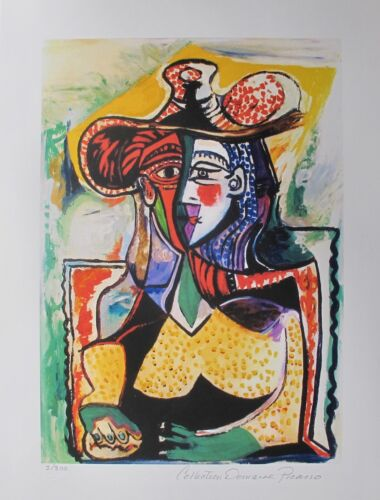 Pablo Picasso PORTRAIT OF A WOMAN Estate Signed Limited Edition Small Giclee Art