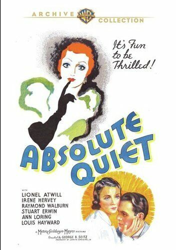 Absolute Quiet (1936 Lionel Atwill) DVD NEW