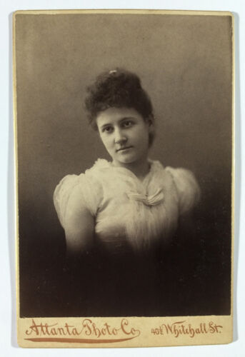 Antique Cabinet Card Photograph of Woman by Atlanta Photo Company Whitehall St