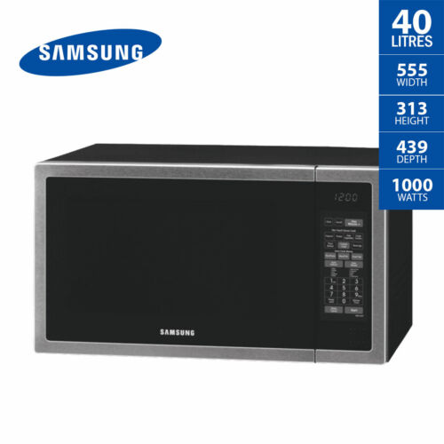 SAMSUNG Microwave Oven 40 Litre Stainless Steel Ceramic Interior ME6144ST 1000W
