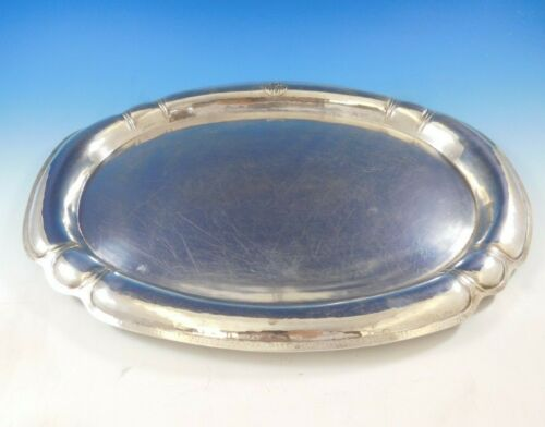 Art Silver Shop Chicago Sterling Silver Tea Tray Oval Handmade Arts Crafts #3360
