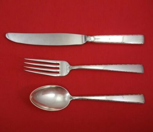 Old Lace by Towle Sterling Silver Junior Set 3-Piece (Modern Knife) Vintage