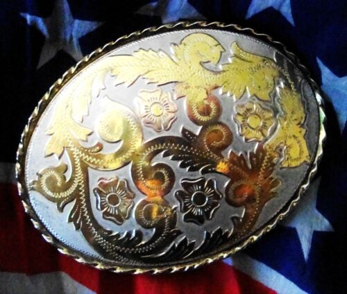 FIBBIA-buckle ovale   vintage 80's  Made in U.s.a  RARE