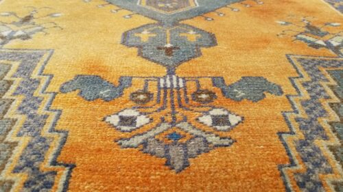 Exquisite Antique Cr1900-1939's Muted Dye,Wool Pile Oushak Rug 3'3''x6'1''