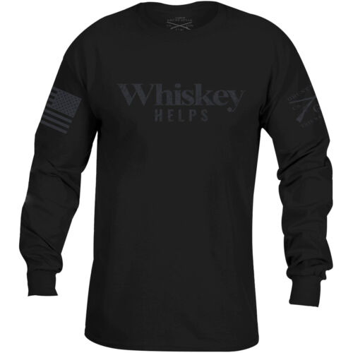 Grunt Style Whiskey Helps Black Label Long Sleeve T-Shirt - Black <br/> Exclusive Seller of Grunt Style on eBay