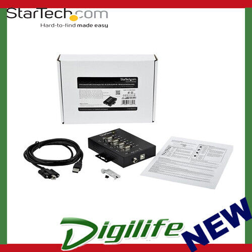 StarTech 4-Port USB to RS-232/422/485 Serial Adapter - 15 kV ESD Protection
