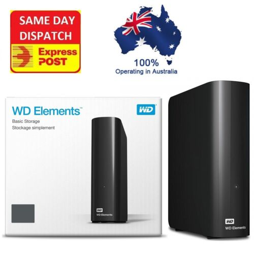 Western Digital WD Elements 12TB 10TB 8TB 6TB 4TB USB 3.0 External Hard Drive
