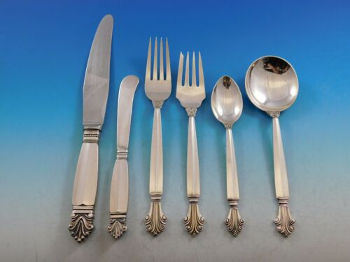 Acanthus by Georg Jensen Danish Sterling Silver Flatware Set Service 36 pcs