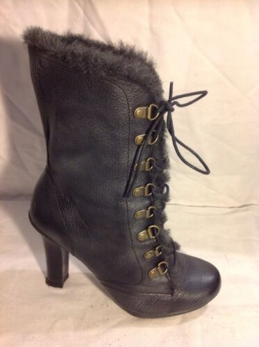 J Shoes Grey Ankle Leather Boots Size 5