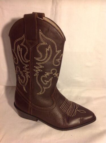 Ranger Brown Mid Calf Leather Boots Size 36