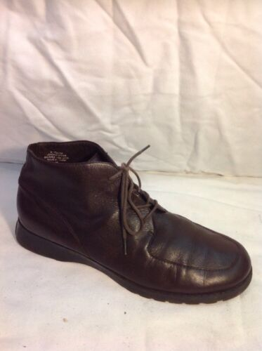 Easy Spirit Brown Ankle Leather Boots Size 9W (Uk Size 7)