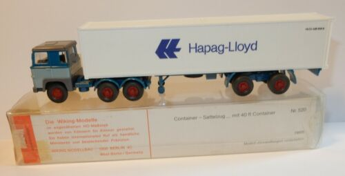 WIKING HO 1/87 CAMION SCANIA 111 SEMI-REMORQUE CONTAINER HAPAG-LLOYD IN BOX