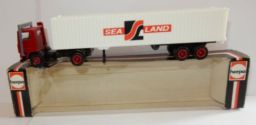 HERPA 800225 HO 1/87 CAMION VOLVO F10 SEMI-REMORQUE CONTAINER SEALAND IN BOX