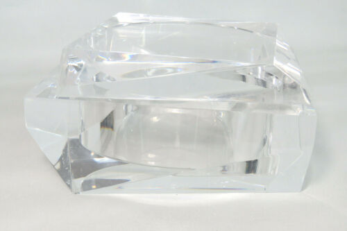 Prismatic Mid Century Modern Italian Clear Lucite Box with Lid by TMS 895C