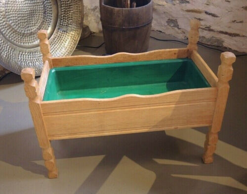 Vintage Solid French Oak Planter Box Made in Denmark