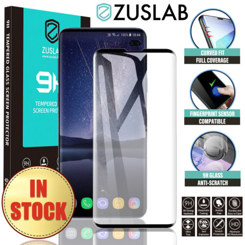 Samsung Galaxy S10 5G S9 S8 Plus S10e Note 9 8 Tempered Glass Screen Protector <br/> 🔥Premium🔥ZUSLAB🔥off RRP$15.99🔥Full Cover🔥3D/9H🔥