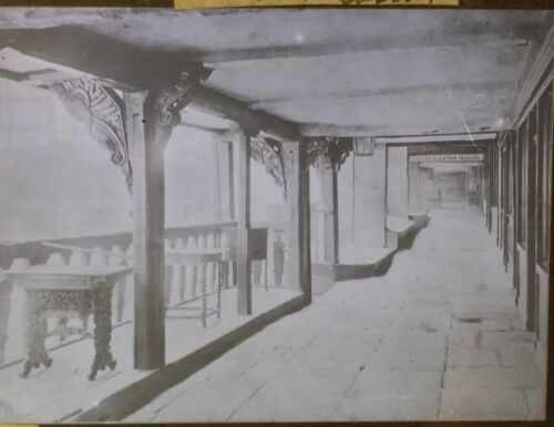 The Rows at Chester ENGLAND Vintage Magic Lantern Glass Photo Slide