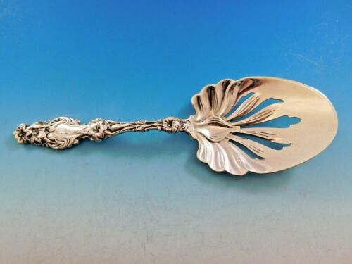 """Lily by Whiting Sterling Silver Fried Egg Server Pierced 8 3/8"""" Vintage"""