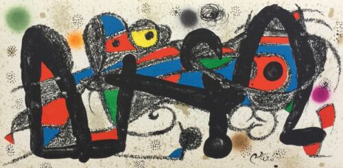 Joan Miro ESCULTOR PORTUGAL 1974 Plate Signed Lithograph Art with Certificate
