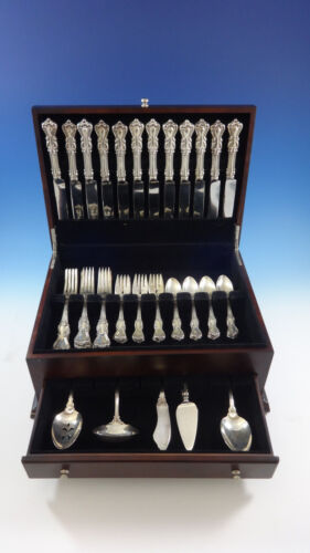 Marlborough by Reed & Barton Sterling Silver Dinner Flatware Set Service 53 Pcs