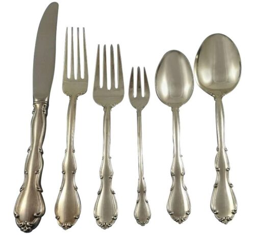 Fontana by Towle Sterling Silver Flatware Set For 12 Service 77 Pieces