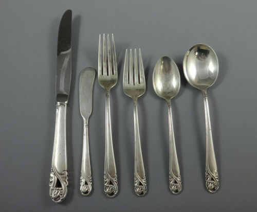 Spring Glory by International Sterling Silver Flatware Service Set 50 Pieces