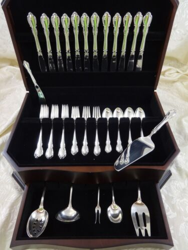 Legato by Towle Sterling Silver Flatware Service fr 12 Set 55 Pieces