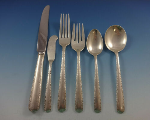 Camellia by Gorham Sterling Silver Flatware Set For 8 Service 49 Pieces