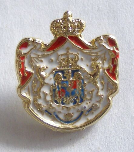 y421 Romania Kingdom COAT OF ARMS BADGE PINReproductions - 156372